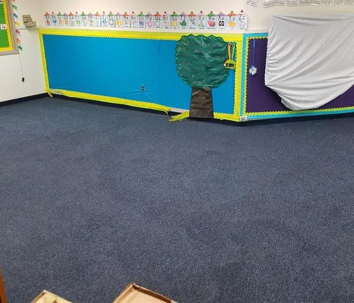 Cleaning Carpets at Local Schools After